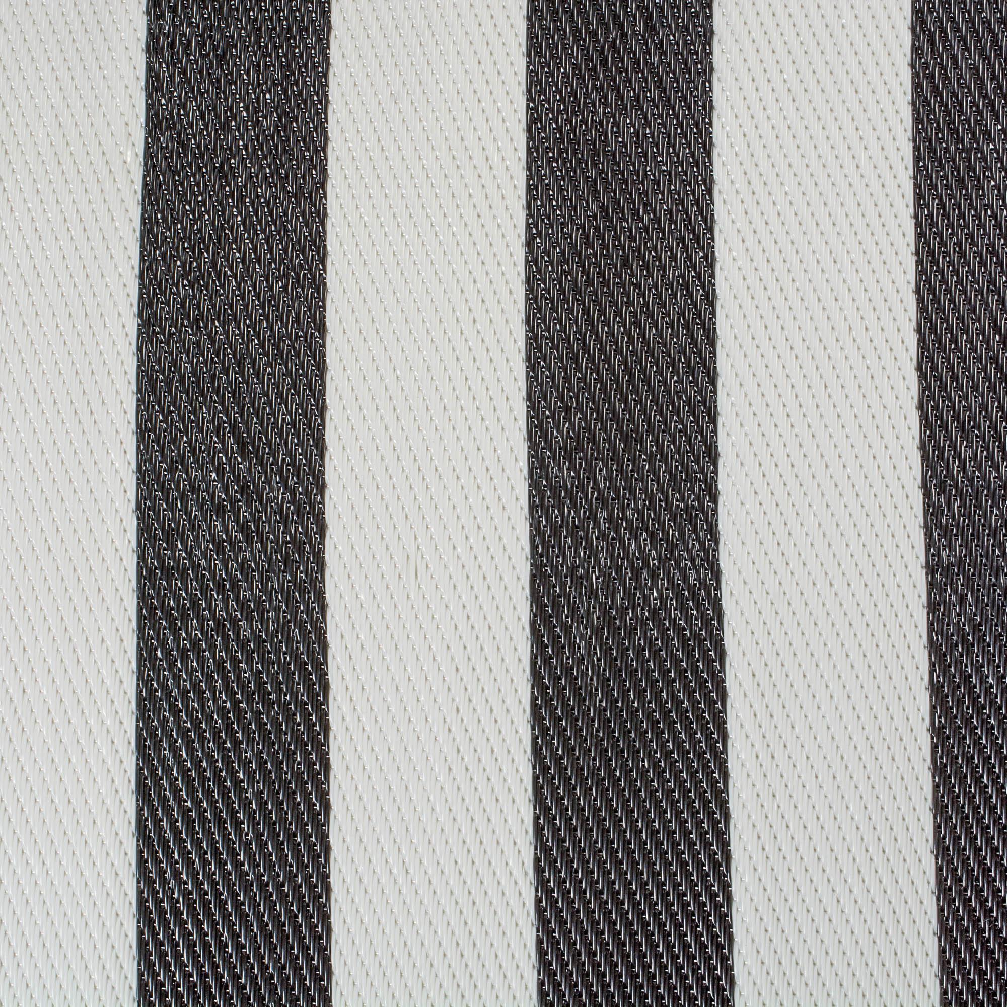 dii black white stripe outdoor rug