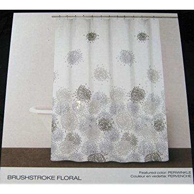 dkny brushstroke floral fabric shower curtain 72 x 72 periwinkle