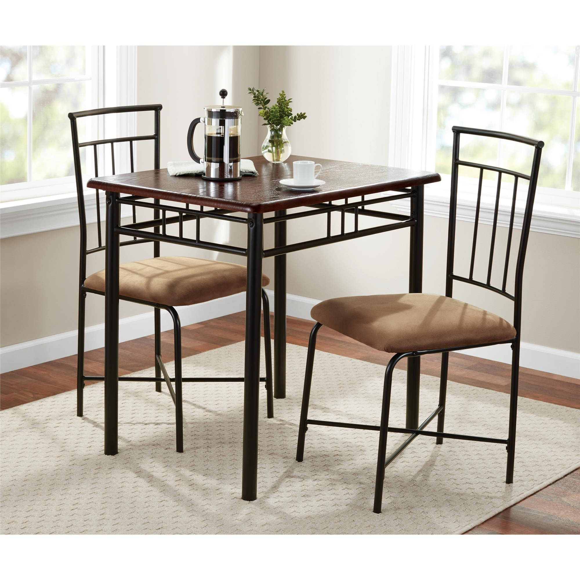 Mainstays 3 Piece Wood and Metal Dining Set