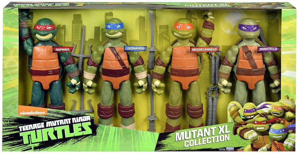 Teenage Mutant Ninja Turtles Nickelodeon Mutant Xl Collection Action Figure 4 Pack Walmart Com Walmart Com