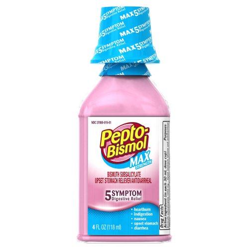 Pepto Bismol Maximum Strength Cherry Flavor 4 oz ...