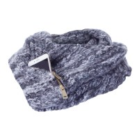 Women's Infinity Scarf With Hidden Pocket - Heathered Grey ...