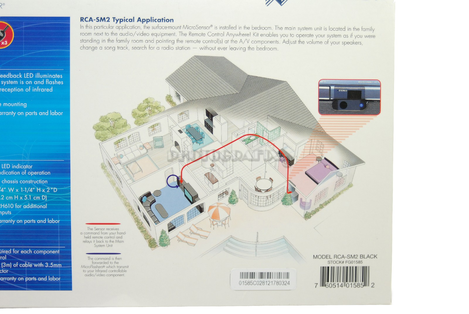 medium resolution of niles rca sm2 remote control anywhere kit with surface mount ir microsensor niles rca sm2 wiring diagram