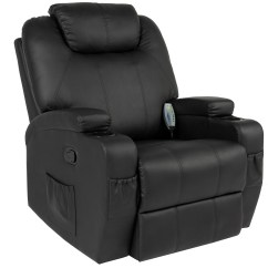 Recliner Chair Leather Antique Best Choice Products Executive Faux Swivel Electric Massage W Remote Control 5 Heat Vibration Modes 2 Cup Holders