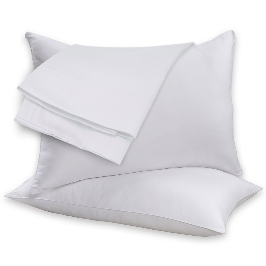 2 Pack 100 Cotton Shell Duck Feather  Down Pillow Pair