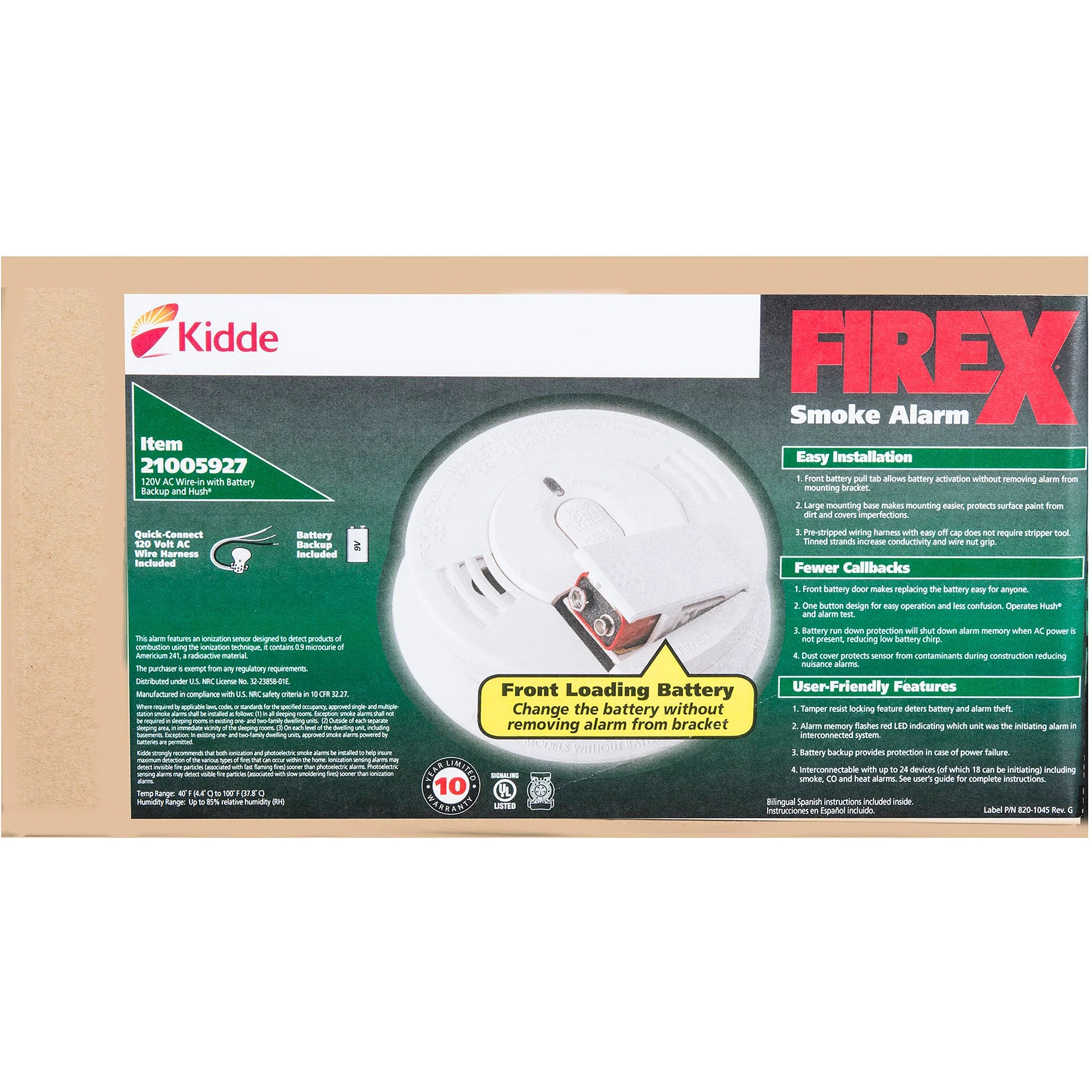 hight resolution of kidde battery operated wireless interconnect smoke alarm rf sm dc walmart com