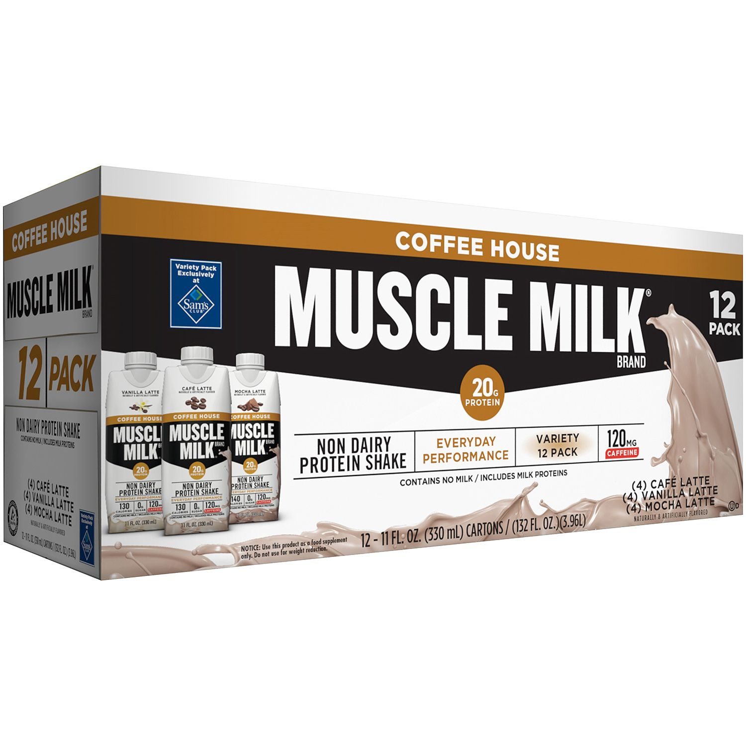 Muscle Milk Coffee House Variety Non-Dairy Protein Shake ...
