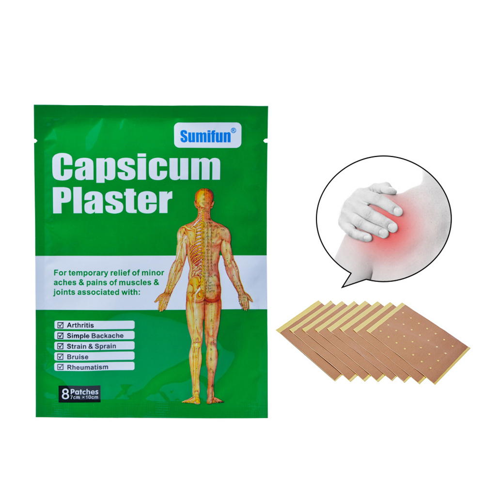 hight resolution of girl12queen capsicum plaster shoulder joints back pain relief cervical spine disease sticker walmart com