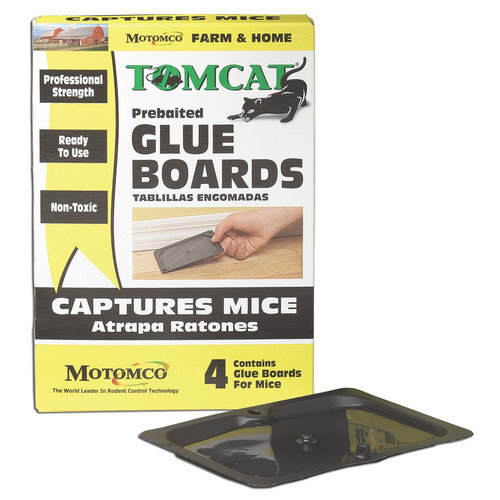 MOTOMCO Tomcat Mouse and Rat Glue Board 4Pack Walmartcom