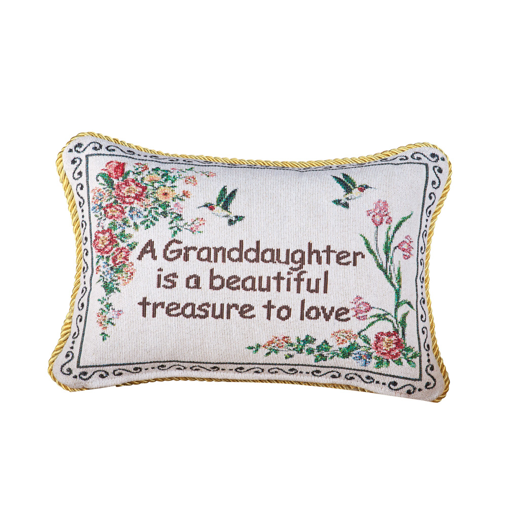 collections etc granddaughter floral tapestry throw pillow gifts for granddaughter home decor accent 12 x 9 inches