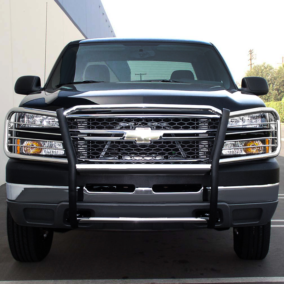 hight resolution of for 02 06 chevy avalanche with cladding front bumper protector brush grille guard chrome 03 04 05 walmart com