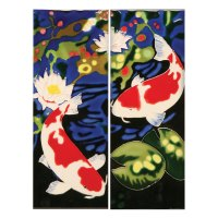 Handmade Koi Fish Ceramic Wall Art Tiles