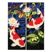 Handmade Koi Fish Ceramic Wall Art Tiles - Set Of Two ...