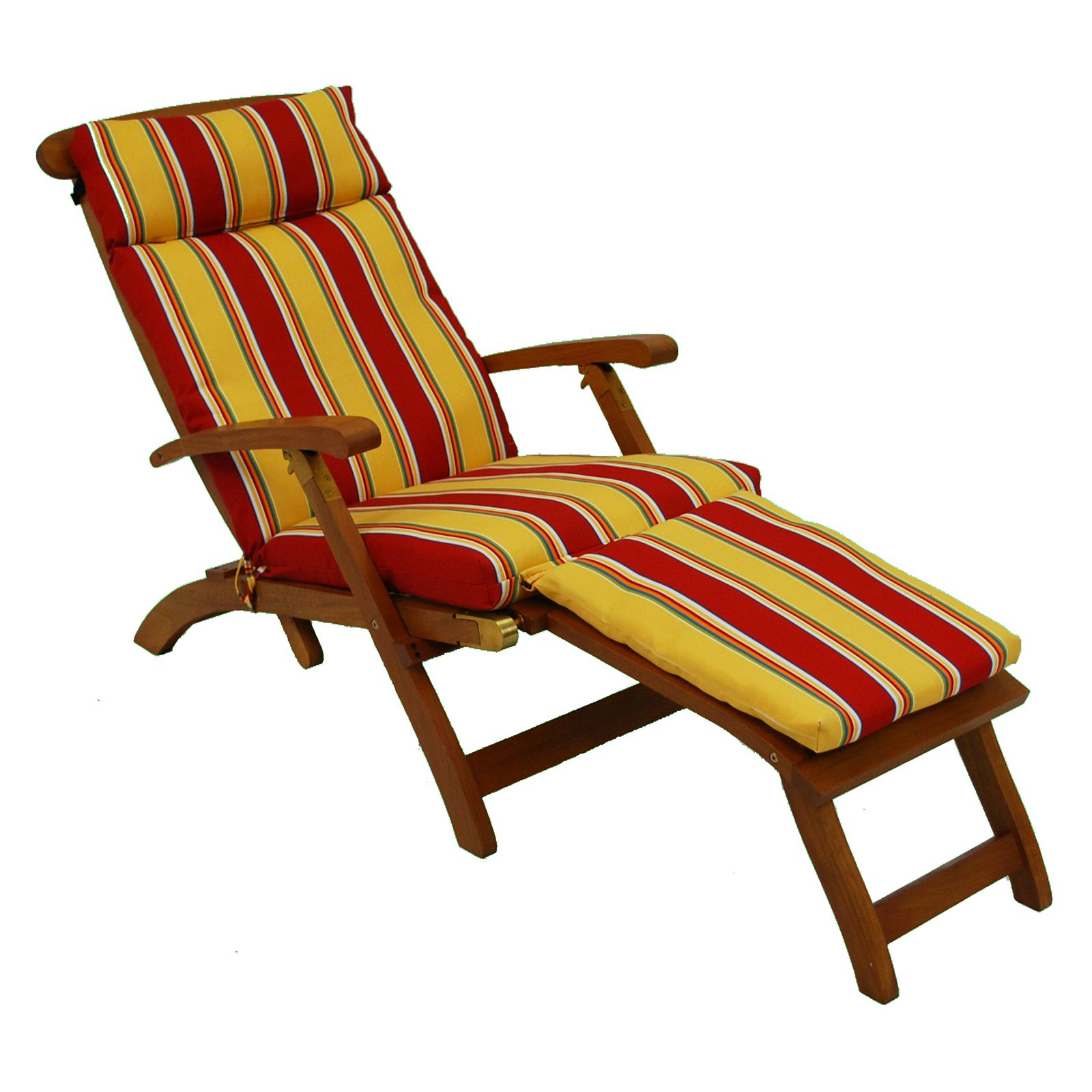 Deck Chair Cushions Blazing Needles 72 In Outdoor Uv Resistant Steamer Deck Lounger Cushion
