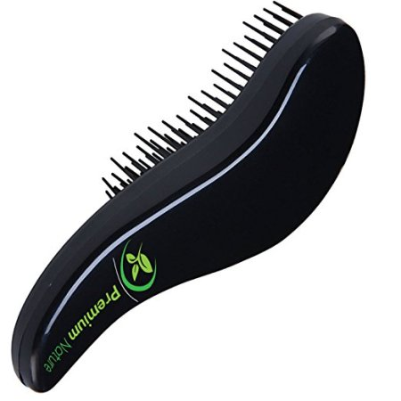 detangling hair brush best detangler b no pain for curly wavy thick or thin black by