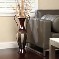 Large Metal Floor Vases In Living Room - Modern home ...