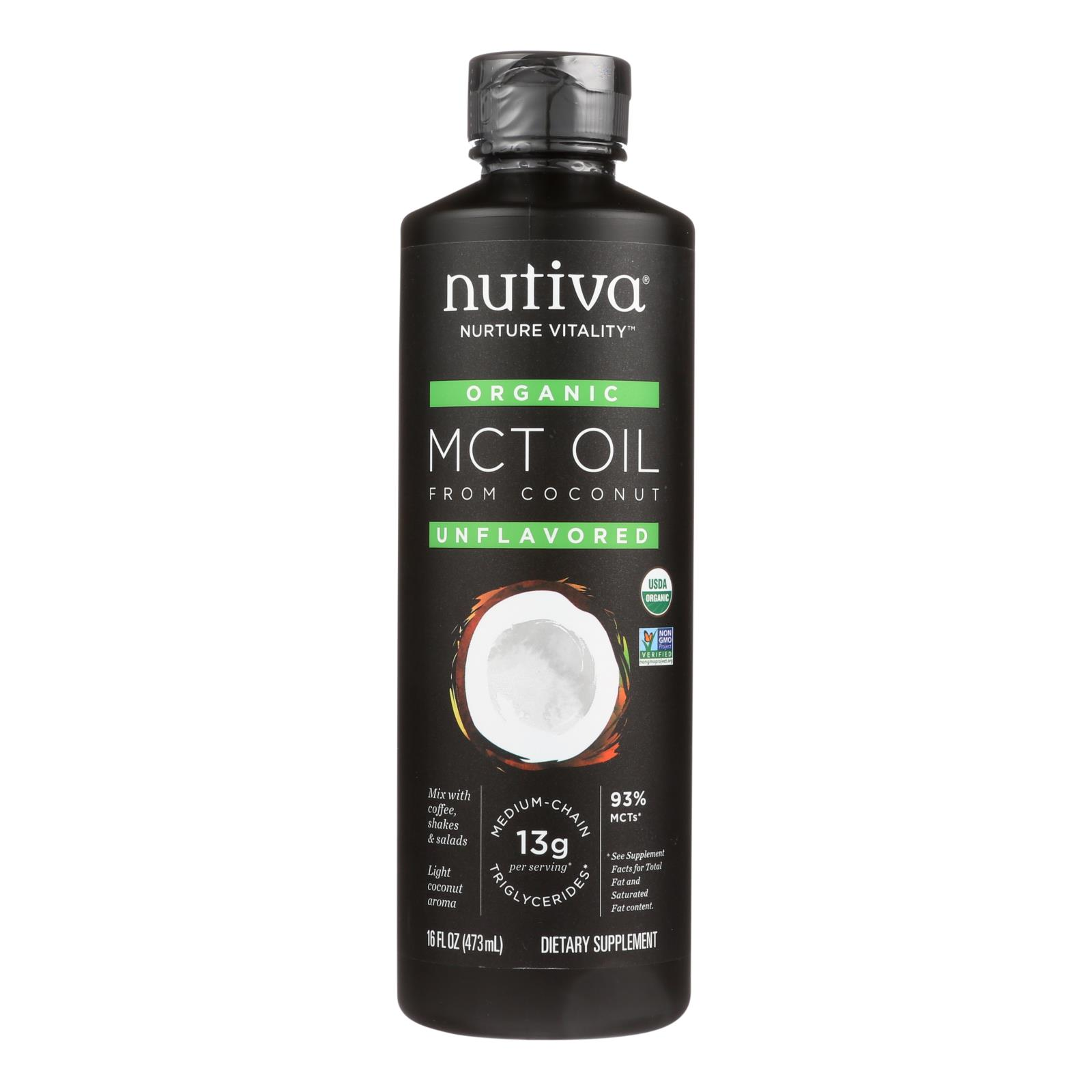Nutiva 100% Organic Mct Oil - From Coconut - Unflavored ...