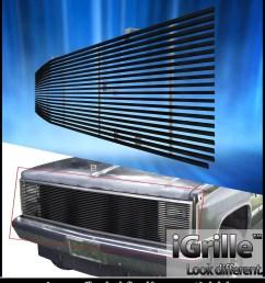 81 87 chevy gmc pickup suburban blazer jimmy black stainless billet grille walmart com [ 1024 x 1181 Pixel ]