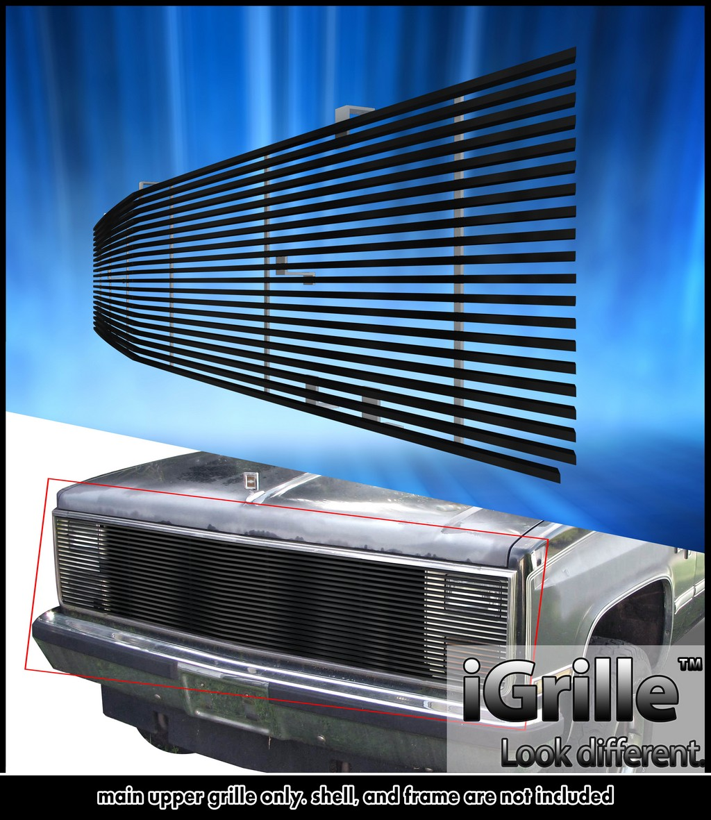 hight resolution of 81 87 chevy gmc pickup suburban blazer jimmy black stainless billet grille walmart com