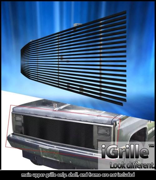 small resolution of 81 87 chevy gmc pickup suburban blazer jimmy black stainless billet grille walmart com