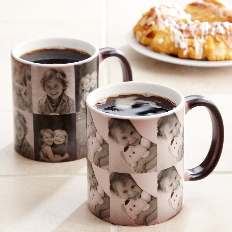 Personalized Multi Photo Color Changing Coffee Mug, 11 oz