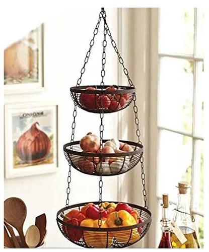 hanging kitchen basket Useful. 3 Tier Hanging Fruit Basket - Walmart.com