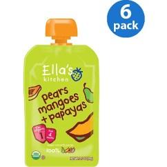 Ellas Kitchen Baby Food Lowes Tiles 6 Pack Ella S Months Organic Pears Mangoes