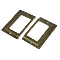 Post Office Library File Drawer Metal Tag Label Holder ...