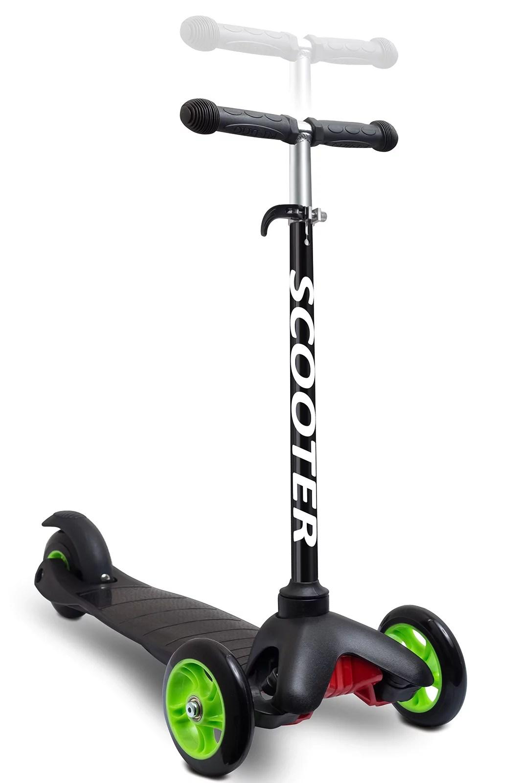 Kazoo Kids 3-Wheel Scooter Step for Brake Deluxe Aluminum Frame (Black) - Walmart.com - Walmart.com