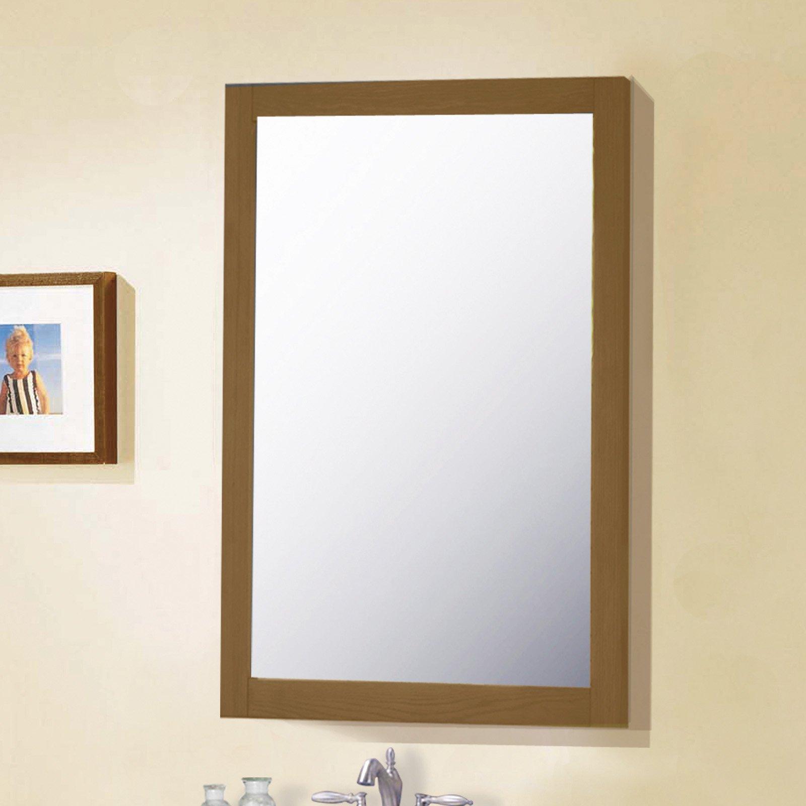 Legion Furniture 20 in Bathroom Vanity Mirror  Weathered