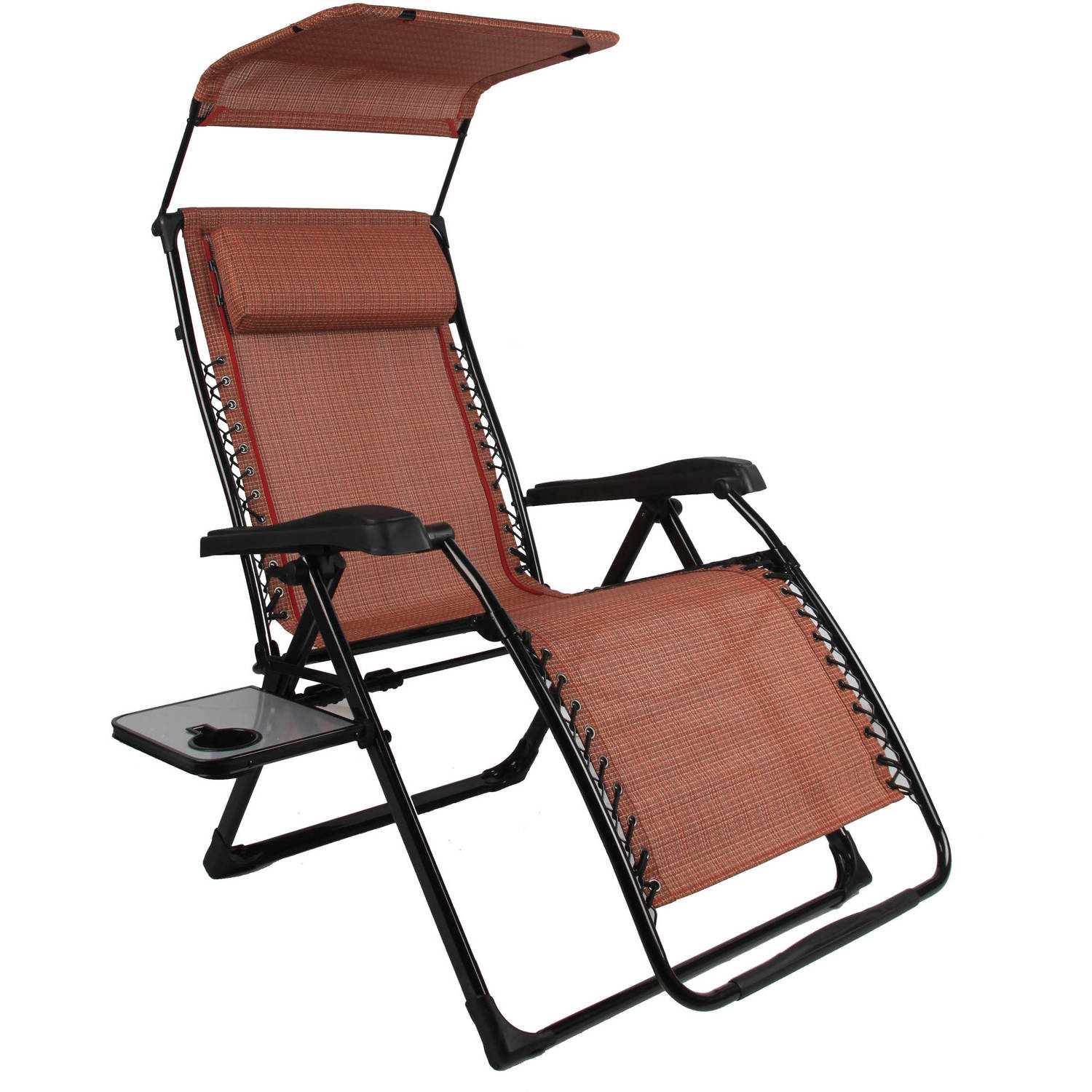 anti gravity chair table folding big lots mainstays extra large zero with side and canopy texture sling fabric walmart com