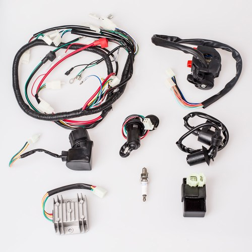 small resolution of complete electrics wire loom magneto stator wiring harness for gy6 125cc 150cc atv quad without coil stator walmart com