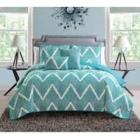 Mela Chevron 5-Piece Bedding Quilt Set - Walmart.com