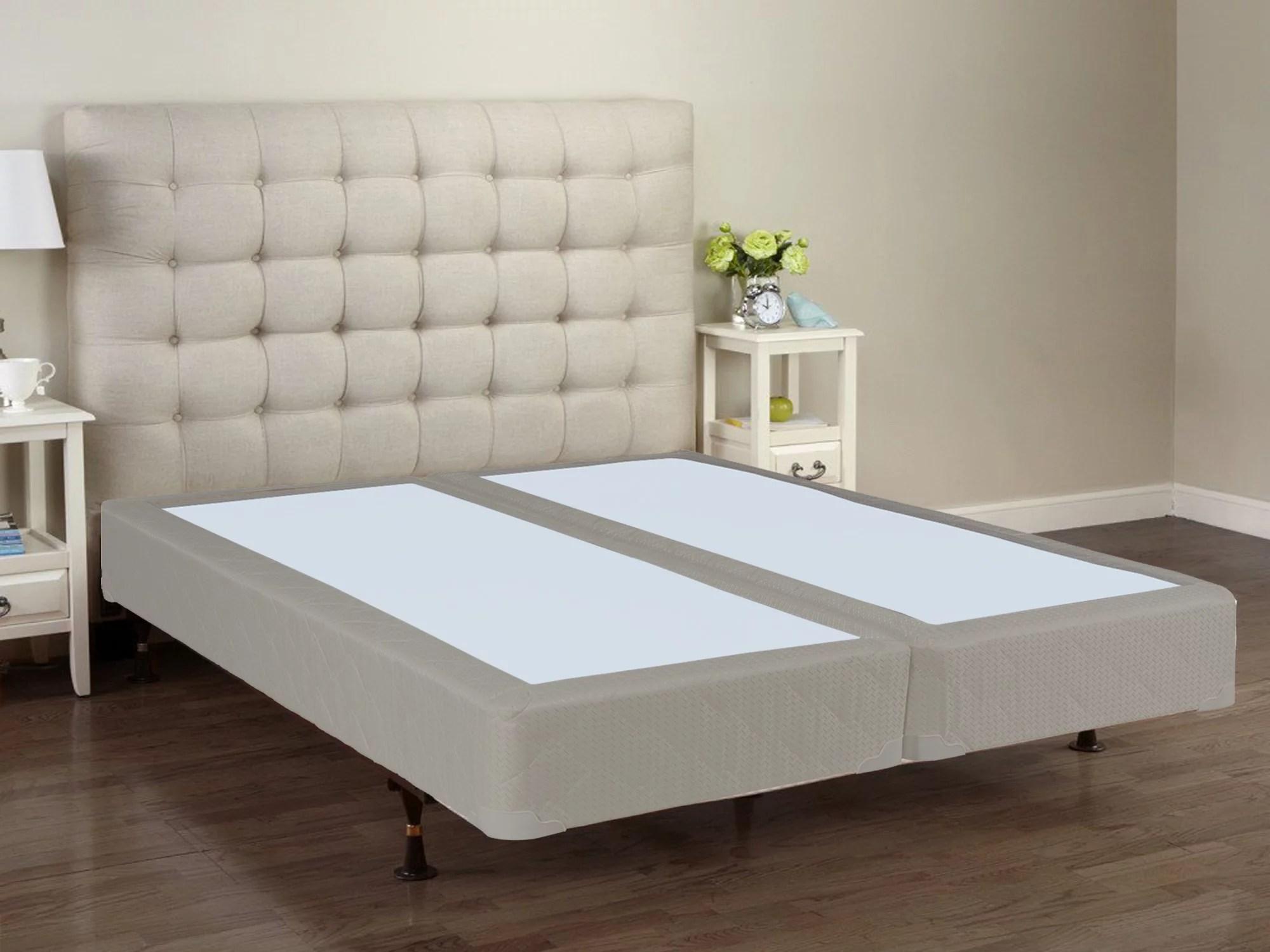 wayton 8 assembled split wood box spring foundation for mattress full size walmart com