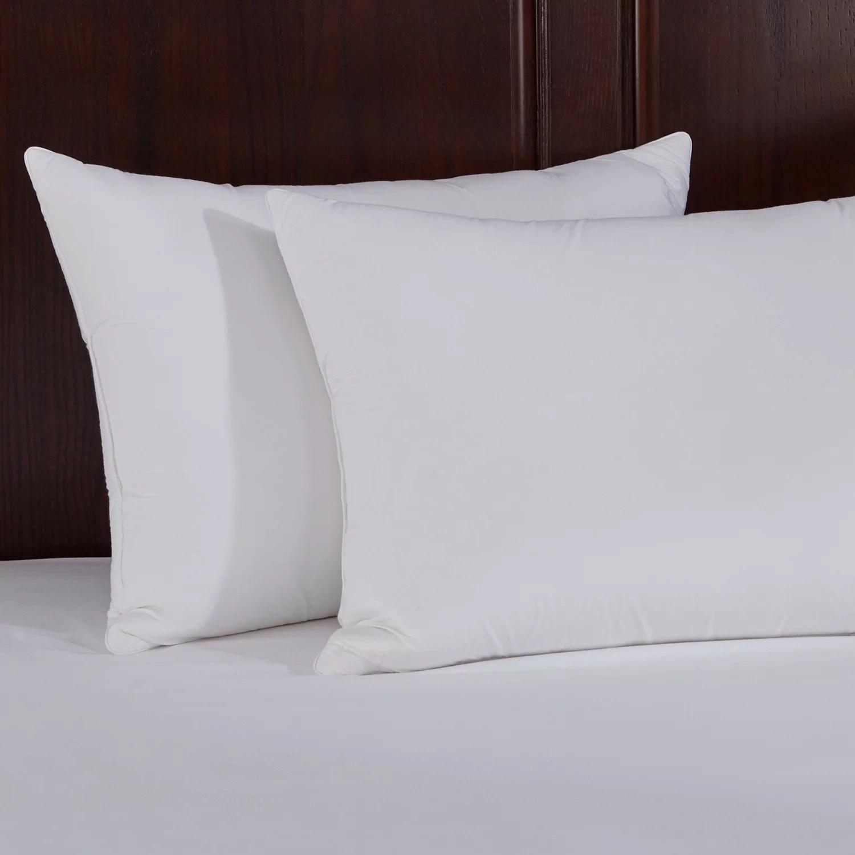 puredown natural memory foam goose feather pillow set of 2 king white walmart com