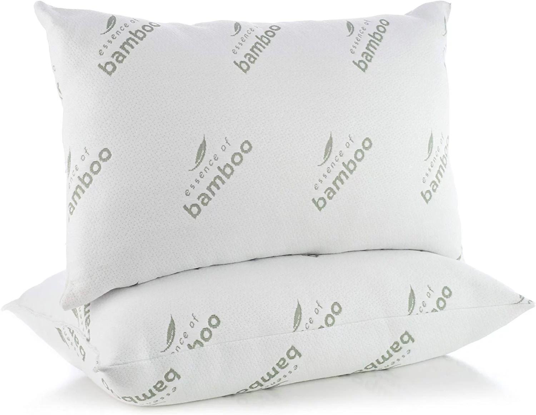essence of bamboo down alternative pillow jumbo size 20 x 28 2 pack queen