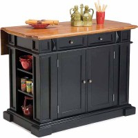 Home Styles Traditions Kitchen Island, Black/Distressed ...