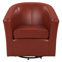 Leather Tub Chair High Top Table Chairs Kitchen Hayden Swivel Bonded Multiple Colors Walmart