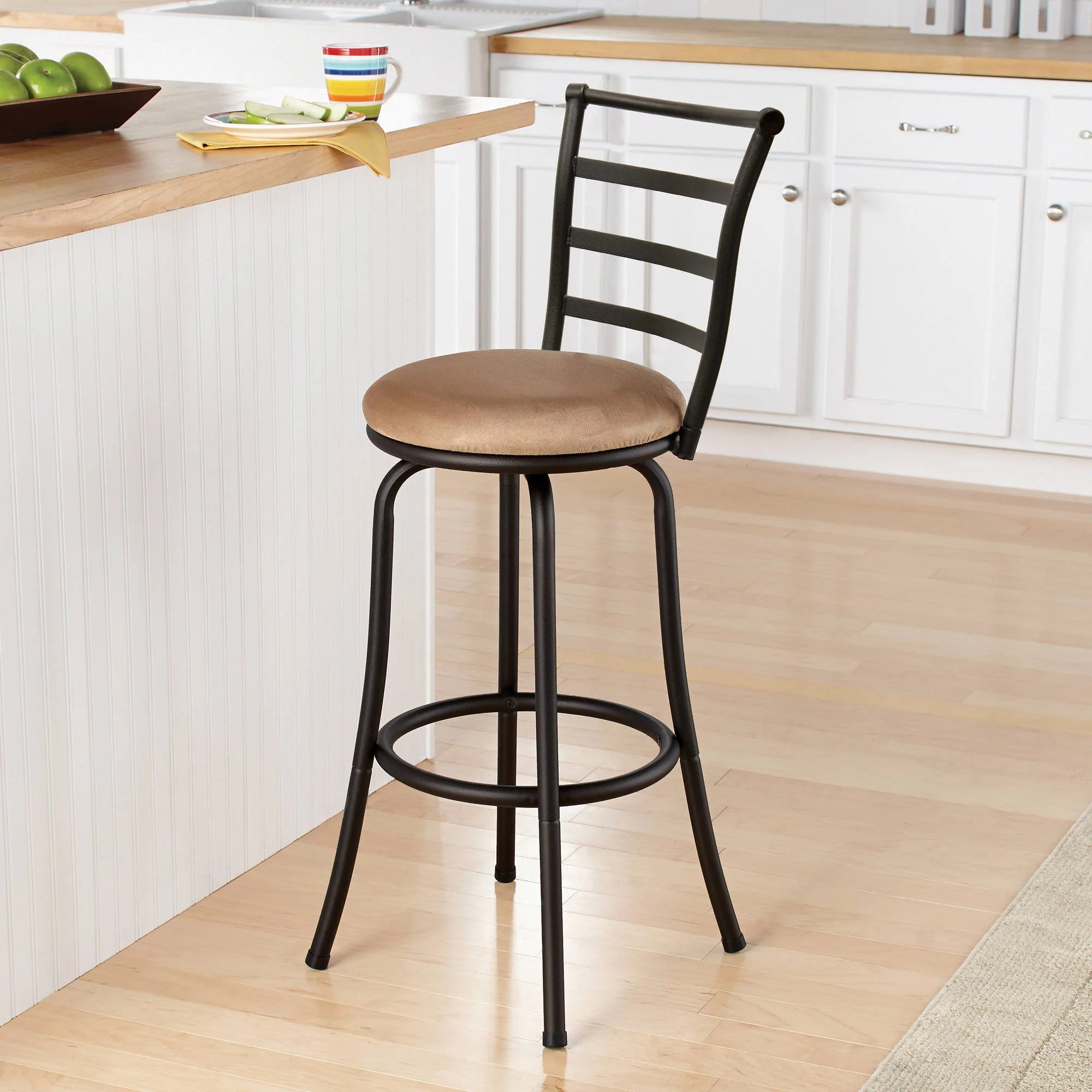 chair stool with back training room chairs singapore mainstays 29 ladder black barstool multiple colors walmart com