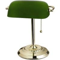 Green Banker's Lamp, Glass Shade - Walmart.com