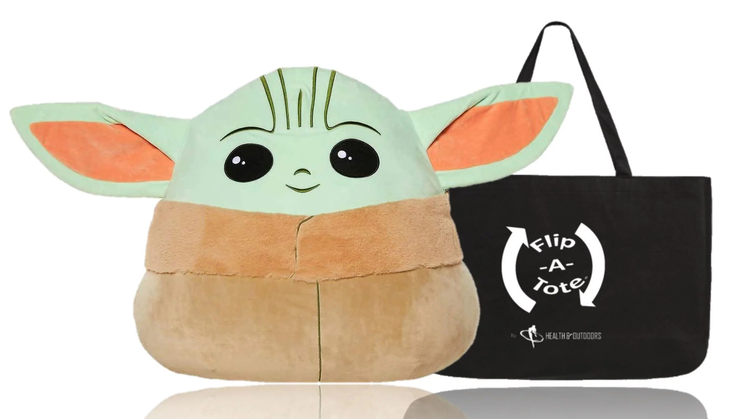 squishmallow baby yoda the child large 20 inch stuffed plush pillow with exclusive flip a tote walmart com