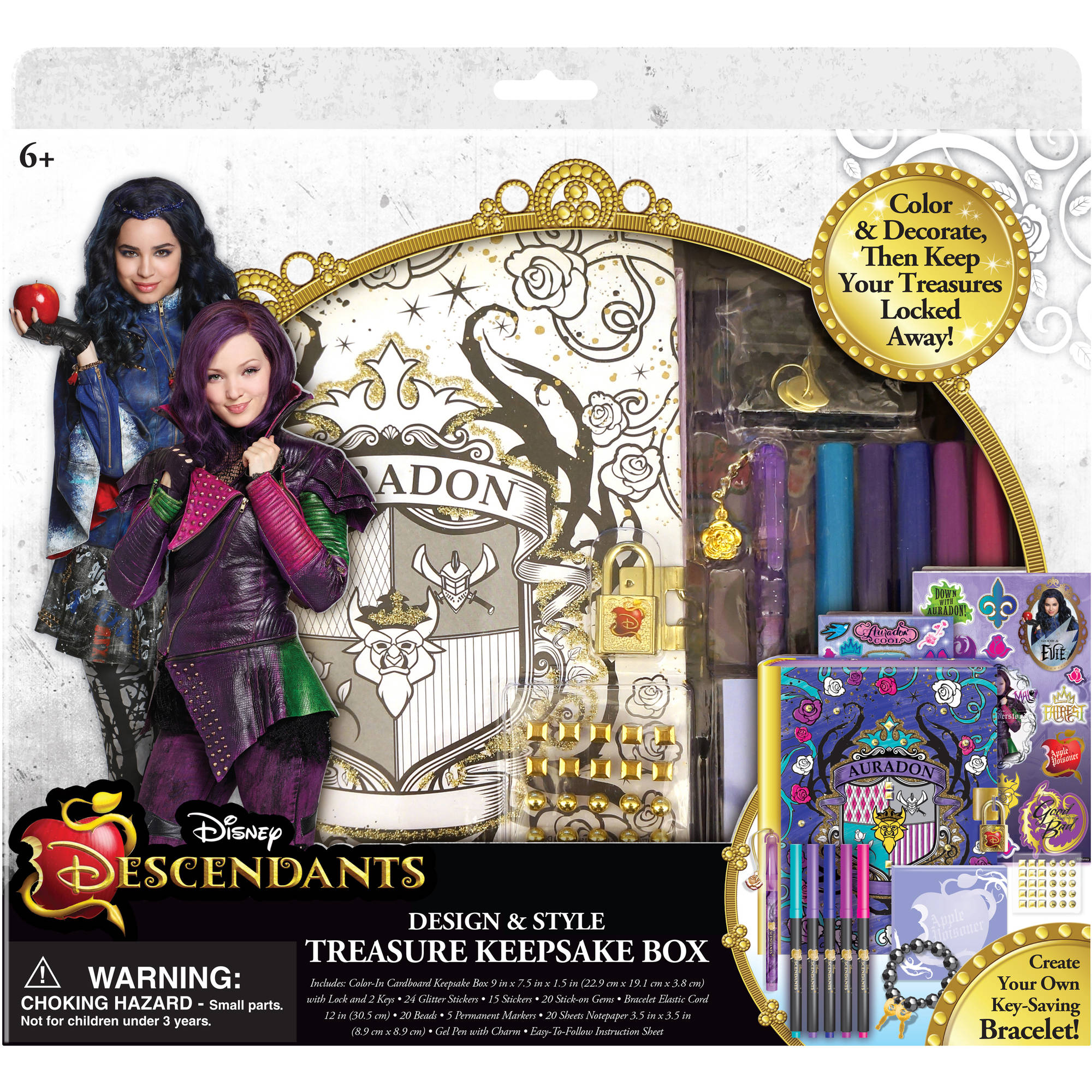 Disney Descendants Treasure Keepsake Box Set Walmart