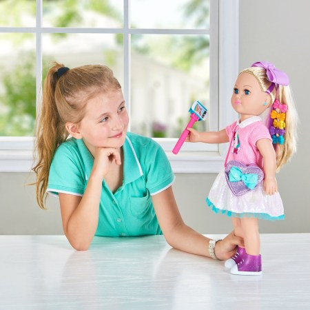 """My Life As 18"""" Poseable JoJo Siwa Doll, Blonde Hair with a Soft Torso"""