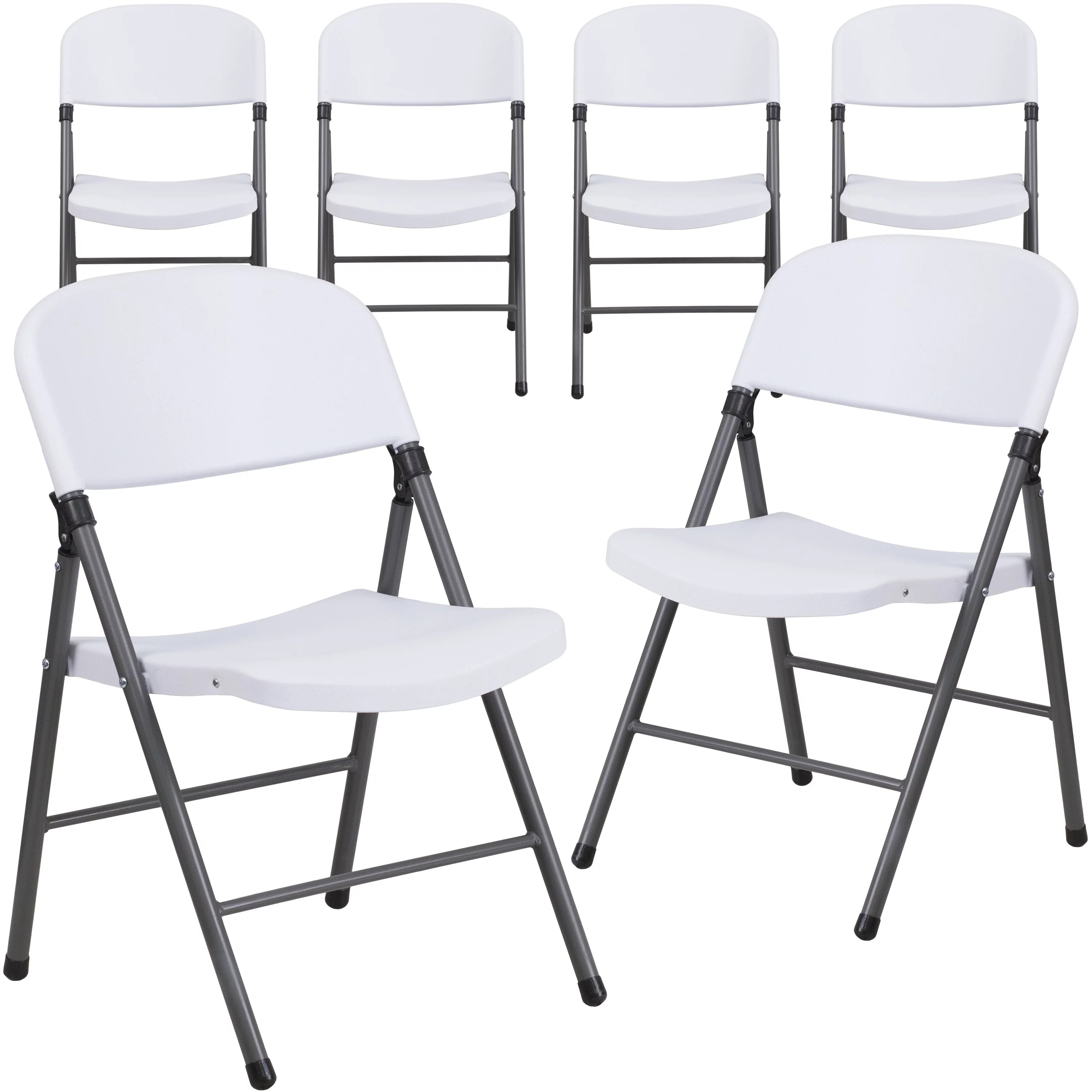 walmart white plastic chairs alera elusion chair manual flash furniture 6 pack hercules series 330 lb capacity folding with charcoal frame com