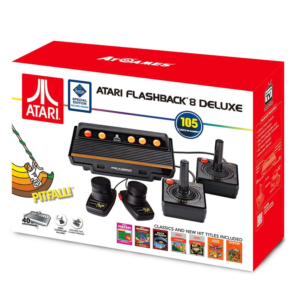 medium resolution of atari flashback 8 deluxe with 105 games 2 wired controllers and 2 wired paddles walmart com