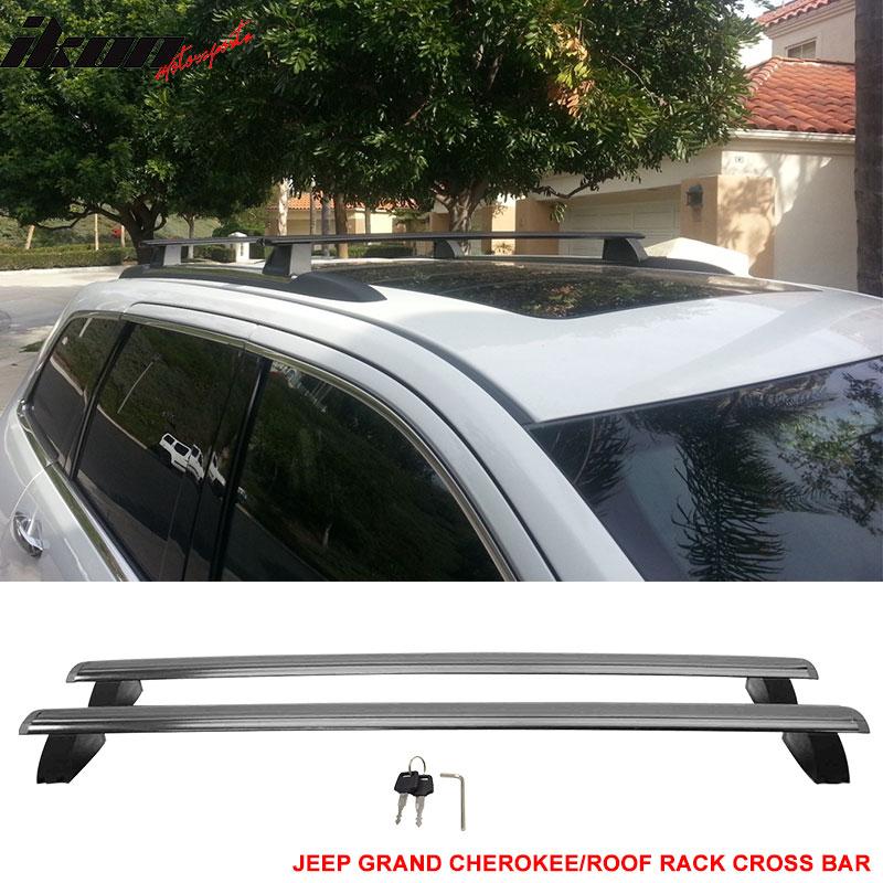 compatible with 11 21 jeep grand cherokee oe factory style roof rack cross bar w key lock walmart com