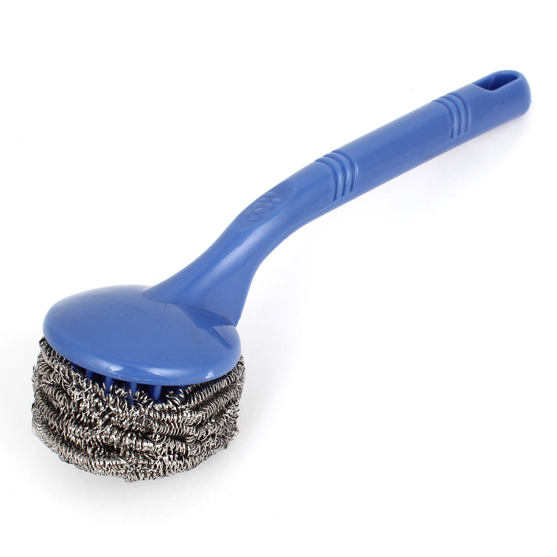 kitchen scrub brush brizo venuto faucet unique bargains blue plastic handle steel coil
