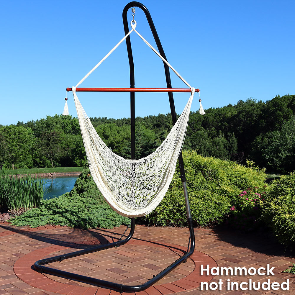 hammock chair swings domore office sunnydaze adjustable heavy duty stand for chairs adjusts up to 93 inches tall 330 pound capacity walmart com