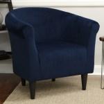 Mainstays Microfiber Bucket Accent Chair Navy Blue Walmart Com Walmart Com