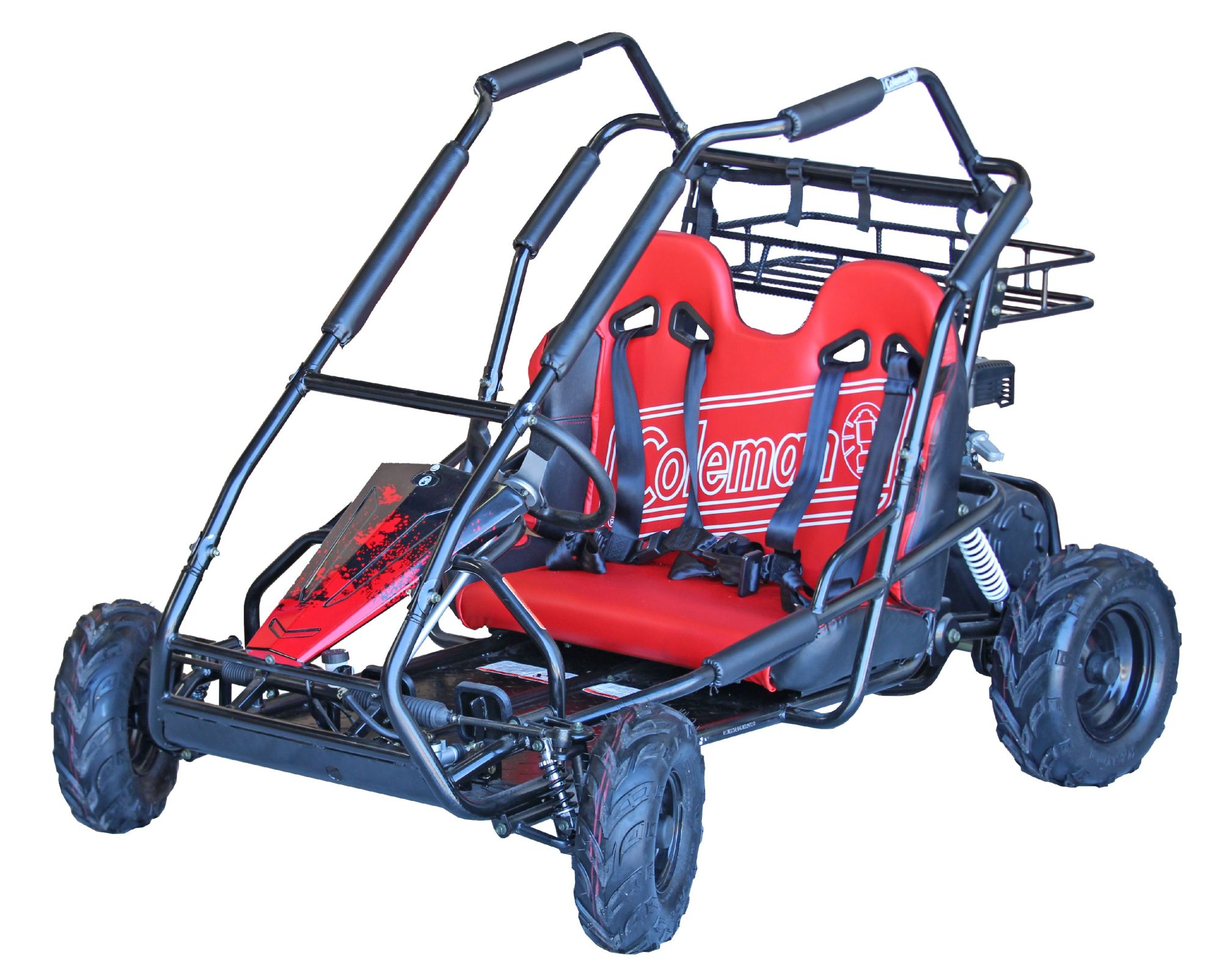 hight resolution of coleman powersports kt196 196cc gas powered go kart black walmart com